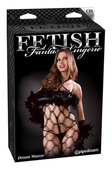 Fetish Fantasy Lingerie Dream Weaver Кэтсьюит в комплекте с боа, стрингами и перчатками