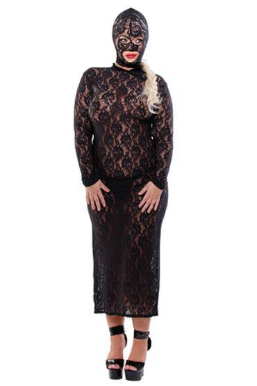 Fetish Fantasy Lingerie Lace Disgrace, Кружевное платье с маской - Размер XL-XXL от condom-shop.ru