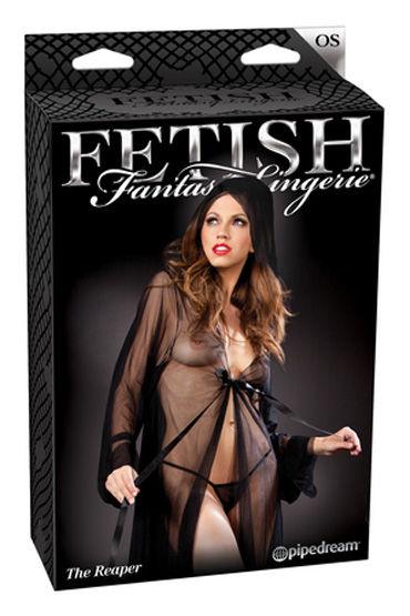 Fetish Fantasy Lingerie The Reaper Пеньюар с капюшоном и стринги