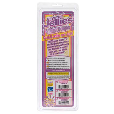 Doc Johnson Crystal Jellies розовый Анальная пробка в форме елочки