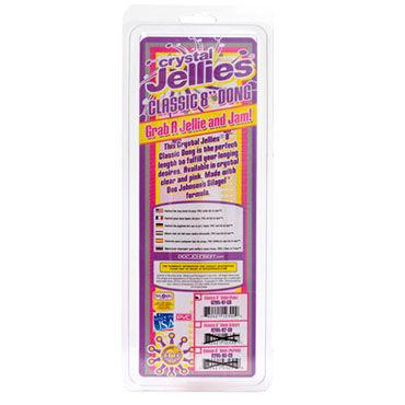 Doc Johnson Сrystal Jellies Classic розовый Классический фаллоимитатор