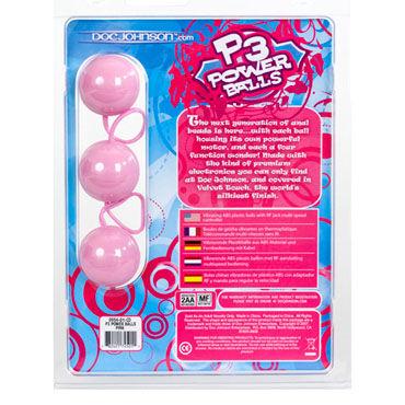 Doc Johnson Power Balls, розовый Многофункциональные шарики с вибрацией