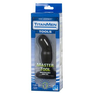 Doc Johnson Master Tool 14 см Анальный стимулятор с двумя степенями шероховатости