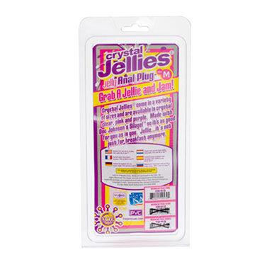 Doc Johnson Crystal Jellies Medium, розовый Анальная пробка среднего размера