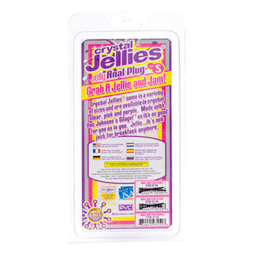 Doc Johnson Crystal Jellies Small, фиолетовый Миниатюрная анальная пробка