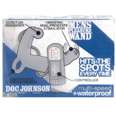 Doc Johnson Mens Pleasure Wand, серый Стимулятор простаты с вибрацией