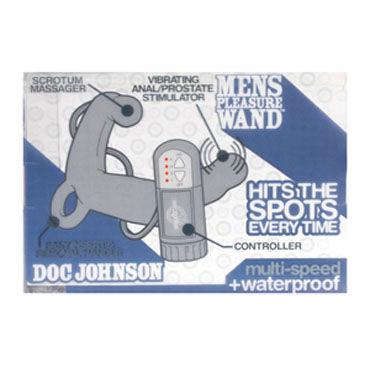 Doc Johnson Mens Pleasure Wand, красный Стимулятор простаты с вибрацией