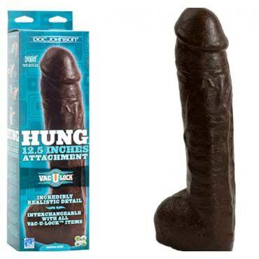 Doc Johnson Vac-U-Lock Hung, коричневый, Насадка для трусиков увеличенного размера