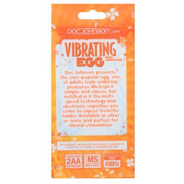 Doc Johnson Vibrating Egg, белый Виброяйцо с пультом управления