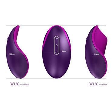 Zini Deux, фиолетово-белый Эргономичный точечный вибромассажер