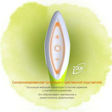 Zini Zook, черно-красный Вибратор со стимулятором клитора