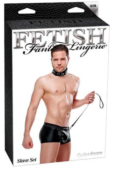 Fetish Fantasy Slave Set Костюм раба, мягкий ошейник и поводок