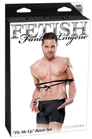 Fetish Fantasy Tie Me Up Эластичные трусы-боксеры с бондажными веревками