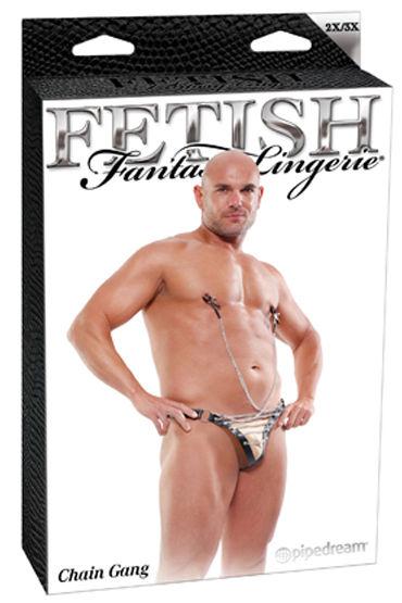 Fetish Fantasy Chain Gang Стринги с зажимами на соски