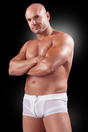 Fetish Fantasy White Hot, Боксеры на молнии спереди и сзади - Размер L-XL