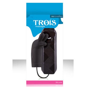 NS Novelties Trois, черный, Стильный клиторальный вибратор