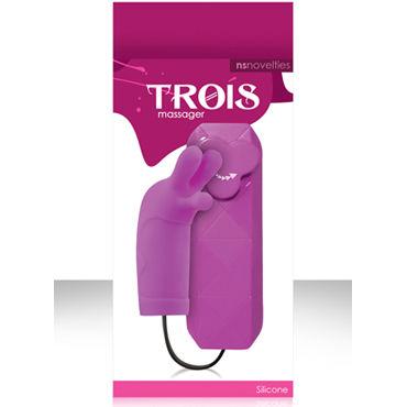 NS Novelties Trois, фиолетовый, Стильный клиторальный вибратор