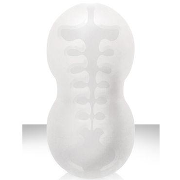 NS Novelties Ballers Spiral Stroker, белый Мягкий мастурбатор с ассиметричным тоннелем