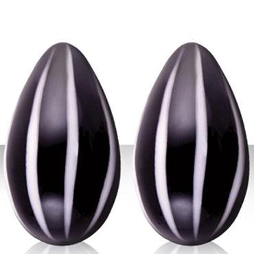 NS Novelties Crystal Kegel Eggs, черный Вагинальные шарики из стекла