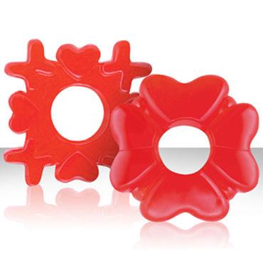 NS Novelties Love Me Tender, красное Набор эрекционных колец разной формы