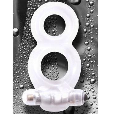 NS Novelties Renegade Man's Ring, прозрачный Эрекционное двойное вибро кольцо