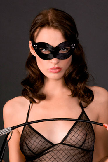 Maison Close, маска La Divine Mascarade Из вельвета со стразами