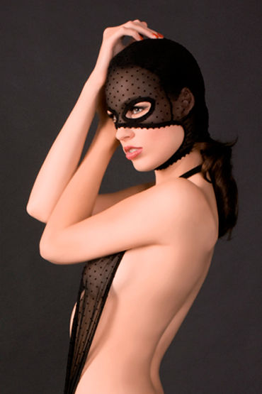 Maison Close, маска на голову Rue Des Demoiselles Cagoule С вырезами для глаз