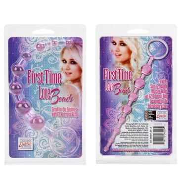 California Exotic First Time Love Beads, розовая Анальная цепочка