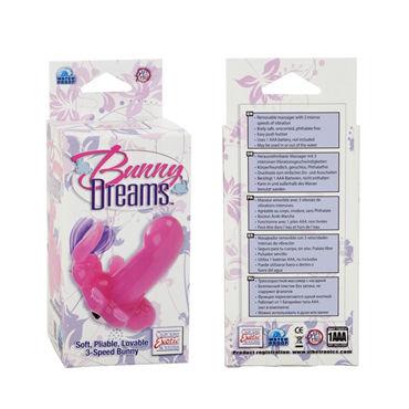 California Exotic Bunny Dreams, розовый Стимулятор клитора и точки G