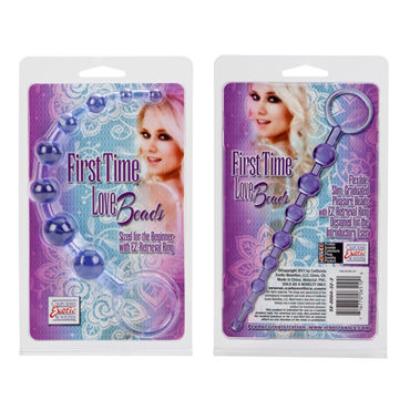 California Exotic First Time Love Beads, фиолетовая Анальная цепочка