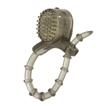 California Exotic Vibrating Cinch Rings, прозрачное Эрекционное кольцо с виброэлементом