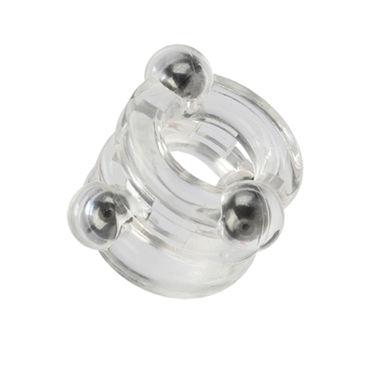 California Exotic Magnetic Power Rings, прозрачный Двойное эрекционное кольцо