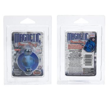 California Exotic Magnetic Power Rings, синий Двойное эрекционное кольцо