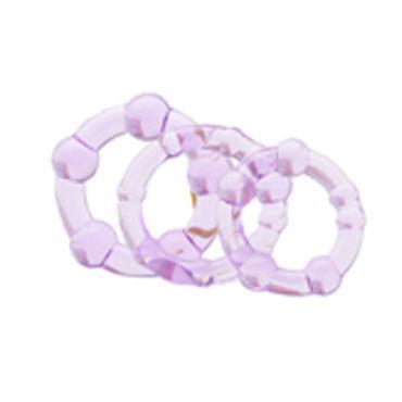 X-Toy Erektus III, фиолетовый Набор эрекционных колец