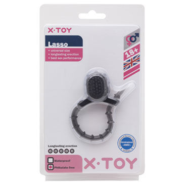 X-Toy Lasso, серый Утяжка на пенис