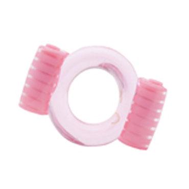 X-Toy Duovibrus, розовое Эрекционное кольцо с двумя виброэлементами
