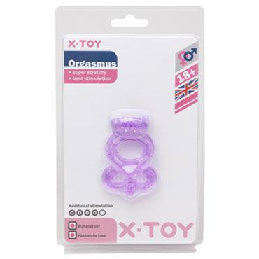X-Toy Orgasmus I, фиолетовое Эрекционное виброкольцо с петлей для мошонки