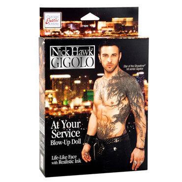 California Exotic Nick Hawk Gigolo Секс-кукла мужчина с татуировкой