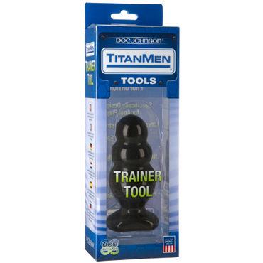 Doc Johnson Titanmen Trainer Tool #4 Анальная пробка оригинальной формы