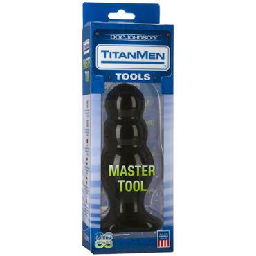 Doc Johnson Titanmen Master Tool # 4 Анальная пробка оригинальной формы