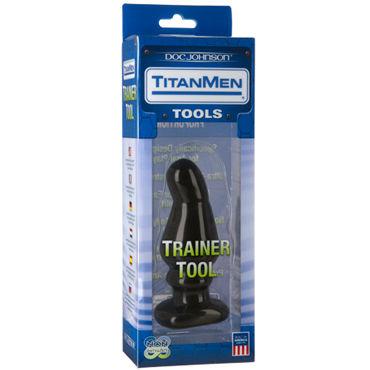 Doc Johnson Titanmen Trainer Tool #5 Анальная пробка анатомической формы