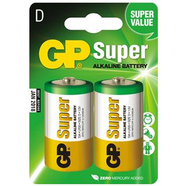 GP Super LR20, Алкалиновые батарейки 2,5 Ач