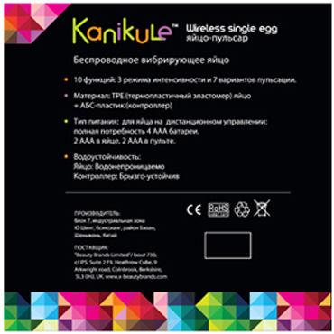 Kanikule My Ball, розовый Яйцо-пульсар с пультом управления