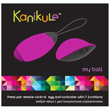 Kanikule виброяйцо, розово-черное С пресс-включением