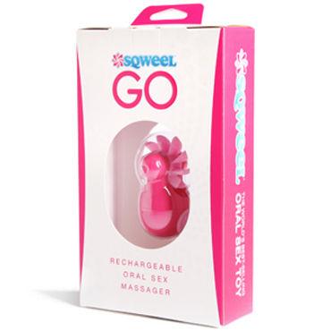 Sqweel Go Pink Карманный клиторальный стимулятор