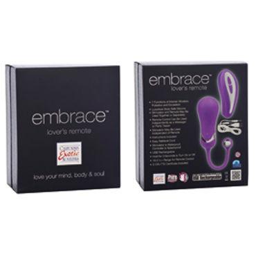California Exotic Embrace, фиолетовый Стильное виброяйцо с пультом ДУ
