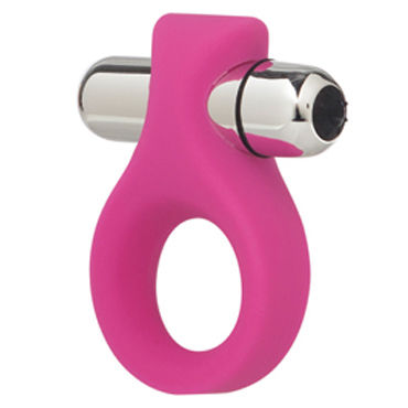 California Exotic Lovers Ring, розовый Эрекционное кольцо с мощной вибрацией