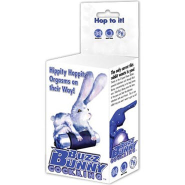 BMS Factory Buzz Bunny Cockring Эрекционное кольцо с зайчиком-вибратором
