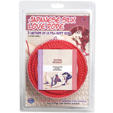 Topco Japanese Silk Love Rope, красный Веревка для фиксации, 3 м