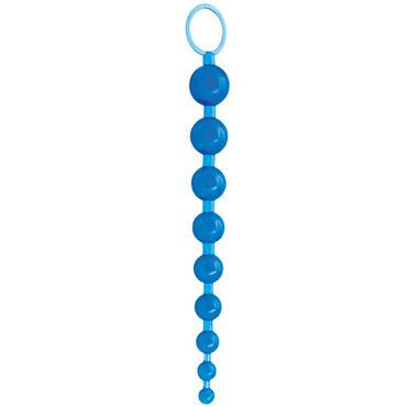 Topco Sex Please! Sexy Beads, голубой Анальные шарики с кольцом-держателем
